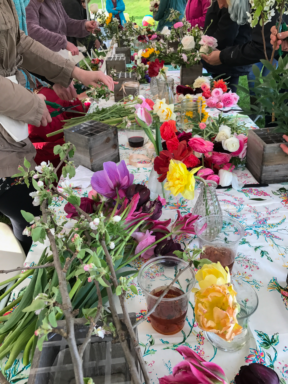 Table Full of Blooms